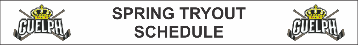 Spring Tryout Schedule shortcut