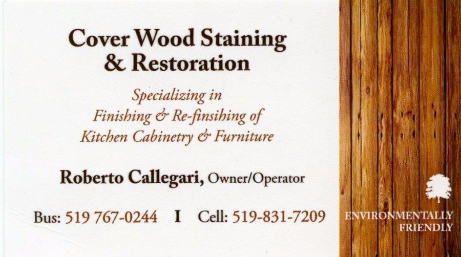 Cover Wood Staining & Restoration